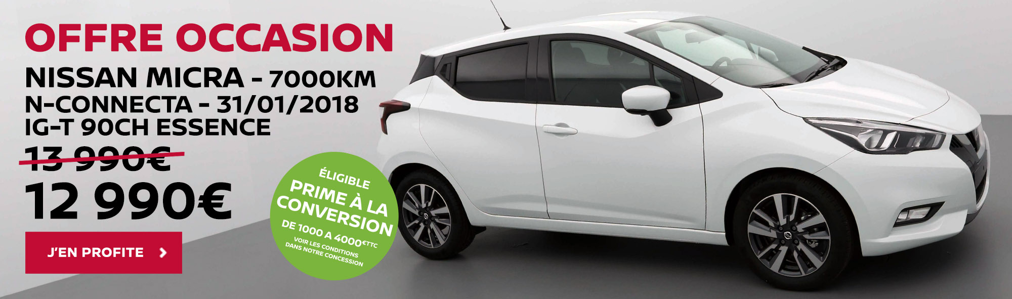 NISSAN TROYES OFFRE OCCASION NOUVELLE MICRA CONNECTA